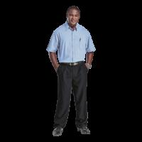 Men's Basic Poly Cotton Shirt Short Sleeve - Penmark Hospitality